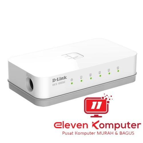 Foto Produk D-Link DES-1005C Hub 5 Port 10/100 Mbps dari ELEVEN COMPUTER