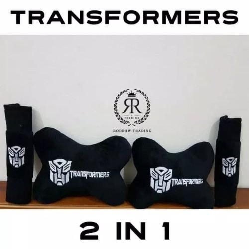 Foto Produk Bantal Mobil Set 2 in 1 Transformers / Headrest Car 2in1 Transformer dari Zona Variasi Mobil