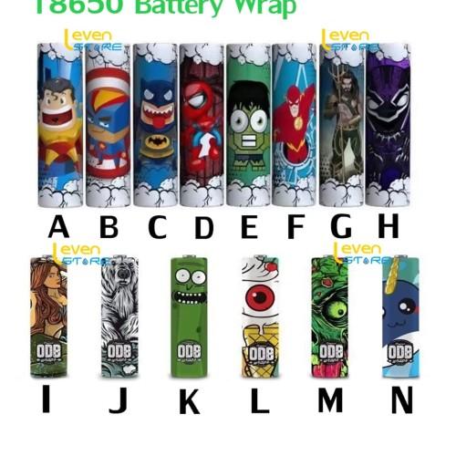 Foto Produk 18650 Battery Wrap Sleeve PVC SuperHero & ODB Series | Batere | Batre dari Leven