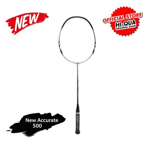 Foto Produk 32Lbs! Hi-Qua NEW ACCURATE Raket Badminton Karbon - Biru dari Hi-Qua Original Shop