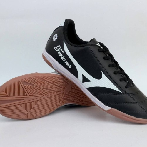 Foto Produk Sepatu Olahraga Futsal Mizuno Fortuna Hitam List Putih Impor dari WNG Store