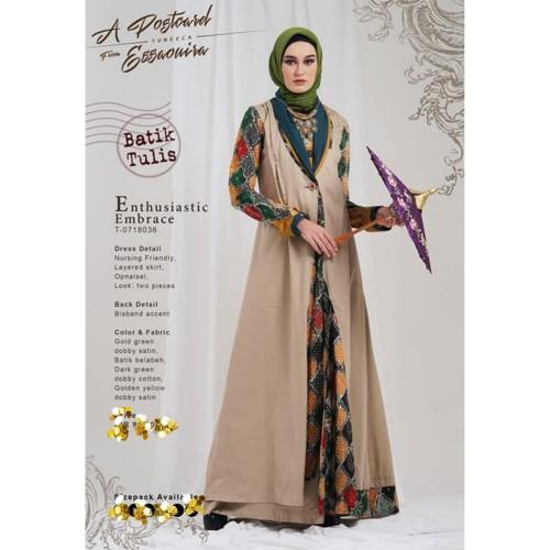 Jual Gamis Tuneeca Batik Tulis T 0718036 Batik Tulis Tuneeca Gamis Gamis Gold Green Xl Jakarta Pusat Grosir Fashion Hijab Tokopedia