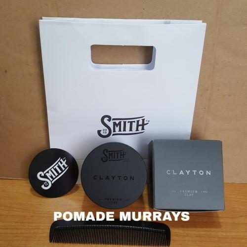 Foto Produk SMITH CLAYTON PREMIUM HAIR CLAY POMADE MATTE free sisir dari Pomade Murrays