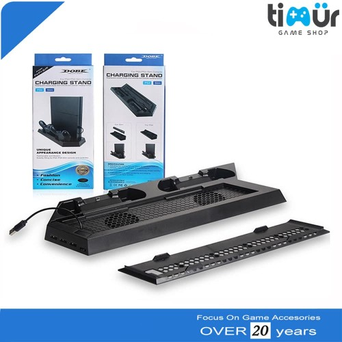 Foto Produk Kipas Vertical Cooling Fan PS4 Charging Stand Dock Fat Slim Dan Pro dari Timur Game Shop