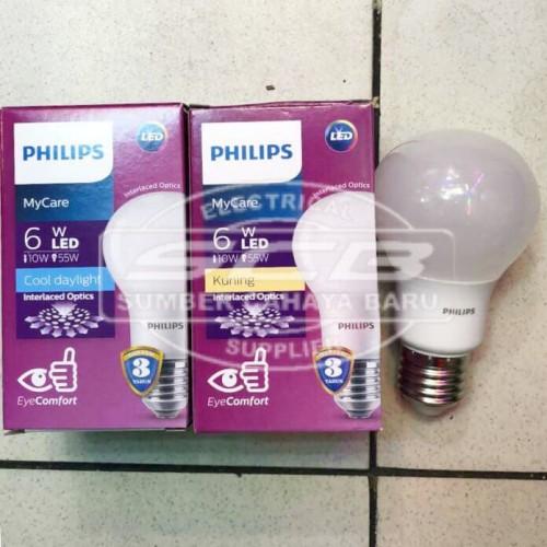 Foto Produk Philips LED Bulb Lamp MyCare 6 Watt dari CV Sumber Cahaya Baru