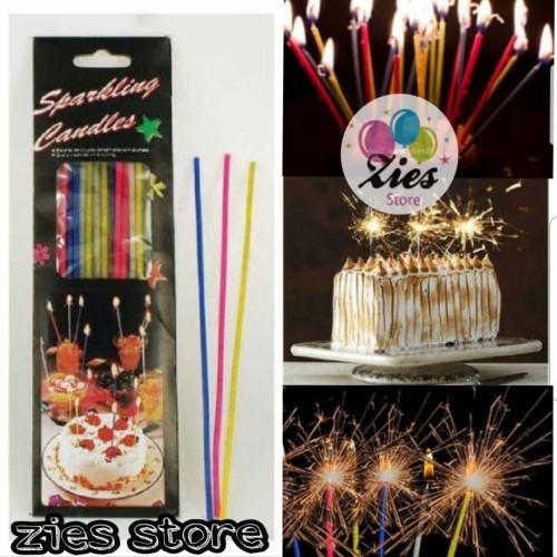 Foto Produk Lilin ulang tahun sparkling / lilin sparkling kembang api panjang . dari Zies store