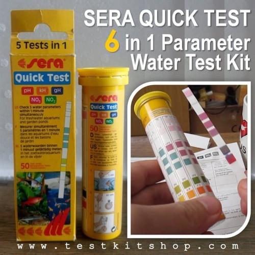 Foto Produk Sera Quick Test 6 in 1 Testkit Tes Kit Cl2 NO2 NO3 kH pH gH Freshwater dari easytest