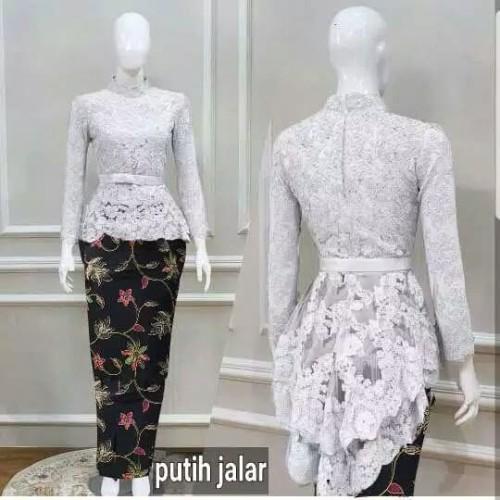 Foto Produk set kebaya wisuda putih/white elegan/baju muslim modern/pesta/resepsi dari Fika Olshop Store