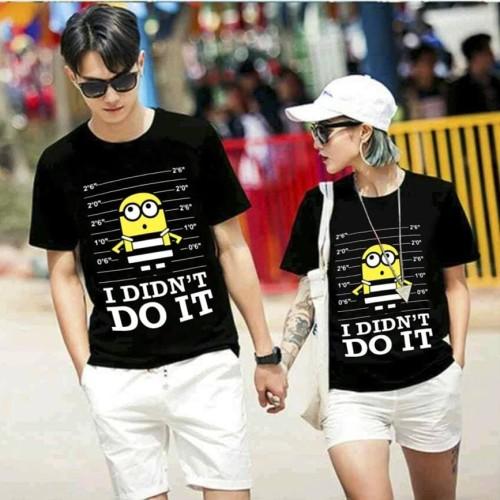 Foto Produk Kaos Couple Minion Jail / Kaos Pasangan dari Jakarta Couple