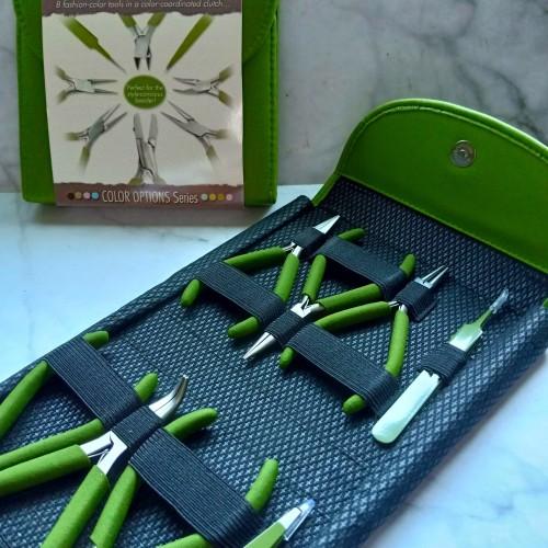 Foto Produk Tang Set Beadsmith Fashion Color Plier Set & Clutch Olive dari Studio Manik