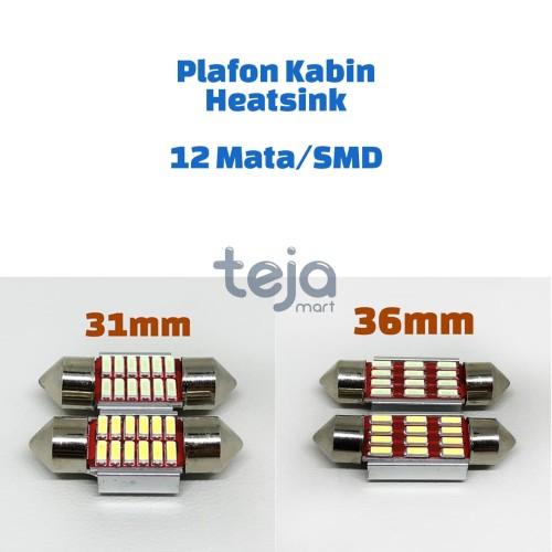 Foto Produk Lampu LED plafon/kabin/cabin/festoon 31mm 31 12 10 SMD/Mata Heatsink - 36, Putih dari TejaMart