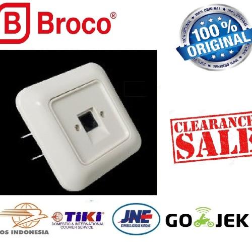 Foto Produk Stop Kontak Telepon BROCO IB Inbow Gracio Cream 4171-11 Telephone SNI dari Natz
