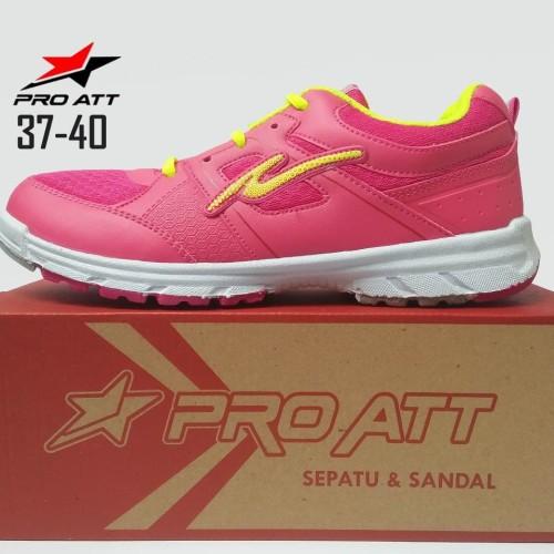 Foto Produk SEPATU PRO ATT LG 457 FUCSHIA, SEPATU SPORT RUNNING WANITA CASUAL - Pink, 37 dari ANEKARAGAM DOT COM