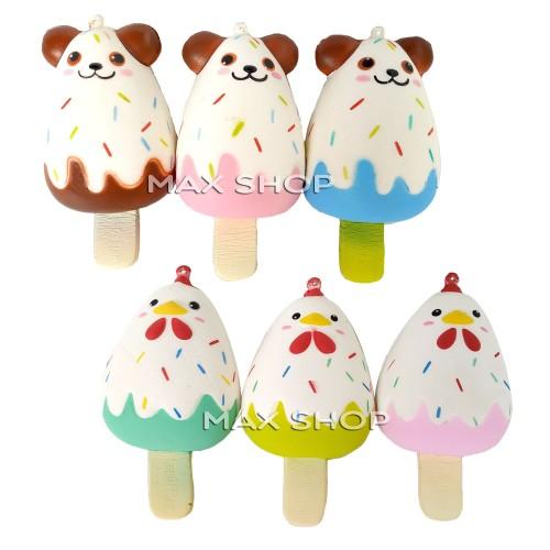 Foto Produk Squishy Ice Cream - Mainan Anak Es Krim Ayam dan Anjing dari MAXSHOP-ONLINE