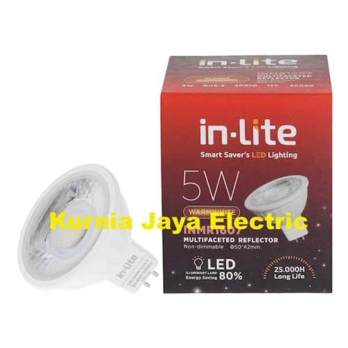 Foto Produk Lampu Led Inlite Mangkok COB MR16 5W Warm White/Kuning Tusuk 2Pin 220V dari Kurnia Jaya Electric