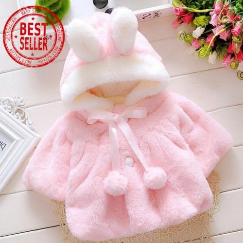 Foto Produk JAKET BAYI PEREMPUAN BULU TEBAL / BABY GIRL FUR COAT ( IMPORT) dari gifthouseindo