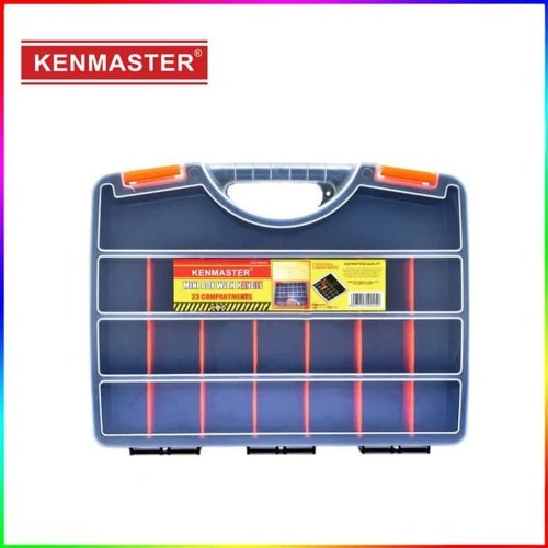 Foto Produk Kenmaster Mini Tool Box With Handle 23 Compartment - Kotak Mur Baut dari Dbestcompushop