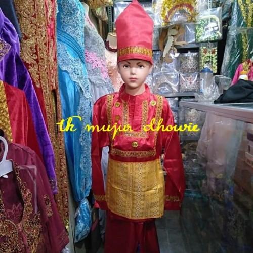 Foto Produk baju adat banjar melayu anak laki untuk karnaval dari toko mujur dhowie