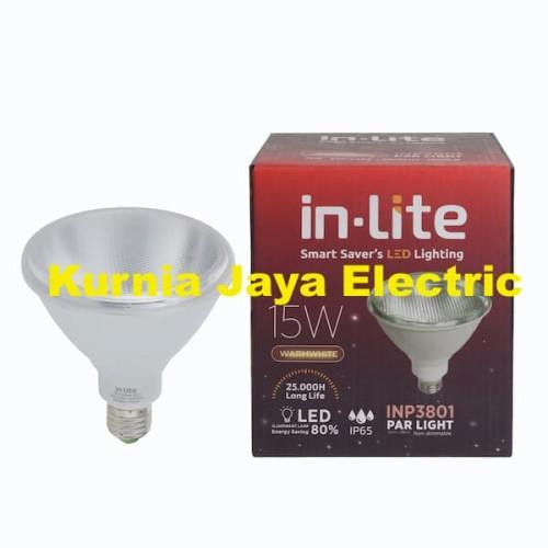 Foto Produk Lampu Inlite Par 38 Light LED 15W INP3801 Warm White / Kuning dari Kurnia Jaya Electric