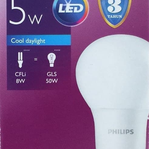 Foto Produk Lampu LED Bulb PHILIPS 5W dari Natz