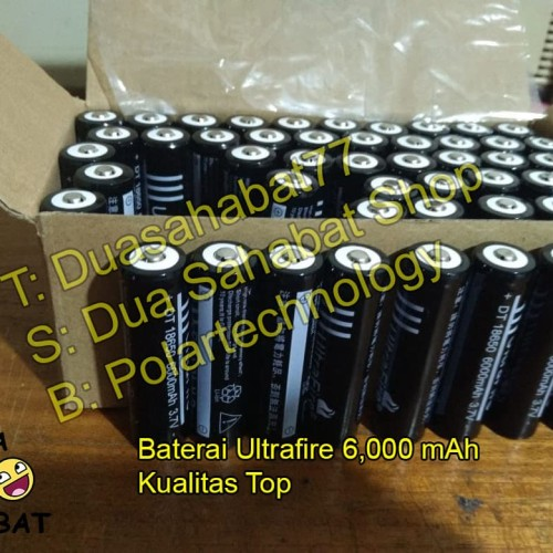 Foto Produk Baterai 18650 senter swat police ultrafire black batere batre battery dari Dua sahabat Shop