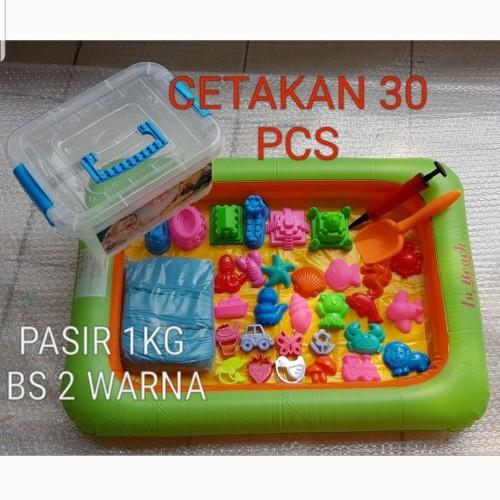 Foto Produk Mainan Edukasi Pasir Kinetik 1kg 20Pcs Cetakan Ban Pasir dari cucigudanglego