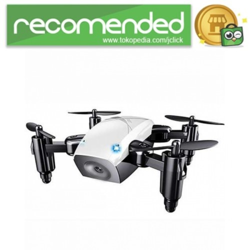 Foto Produk Quadcopter Drone Mini Pocket Foldable - S9 - Putih dari JClick