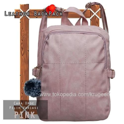 Foto Produk CUCI GUDANG Tas Ransel Wanita Import / Punggung Fashion Impor 318 - Merah Muda dari KRUGEER