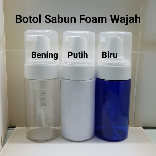 Foto Produk Botol Sabun Foam Wajah uk 100ml - Biru dari Alyssa Cute Hair Stuff