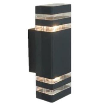 Foto Produk Lampu Dinding Tempel Taman Pilar Teras Outdoor Minimalis Kotak 2 Lampu dari Britplaza