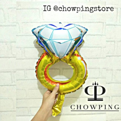 Foto Produk Balon Cincin Diamond Mini 40cm dari Yovie Mart