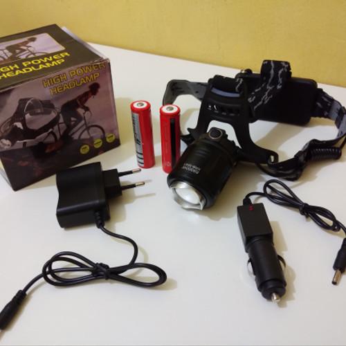 Foto Produk Senter Kepala T6 LED ZOOM 2 Baterai HIGH POWER LAMP XML Headlam SKTL10 dari TOKO SINAR TERANG