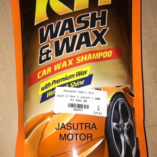 Foto Produk Shampoo mobil Kit Wash & Wax bungkus isi ulang ) 800 Ml 60547 dari Jasutra motor
