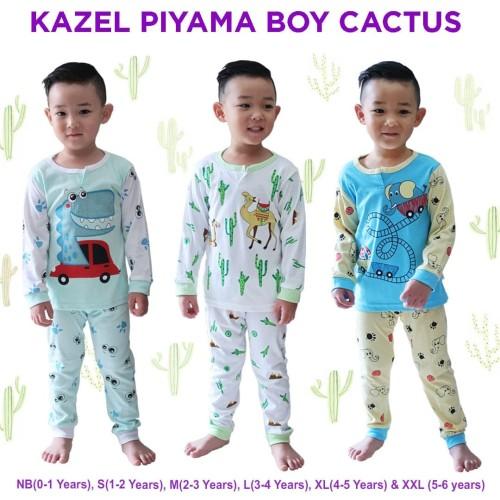 Foto Produk KAZEL PIYAMA BOY CACTUS EDITION SIZE L dari baby cute online shop