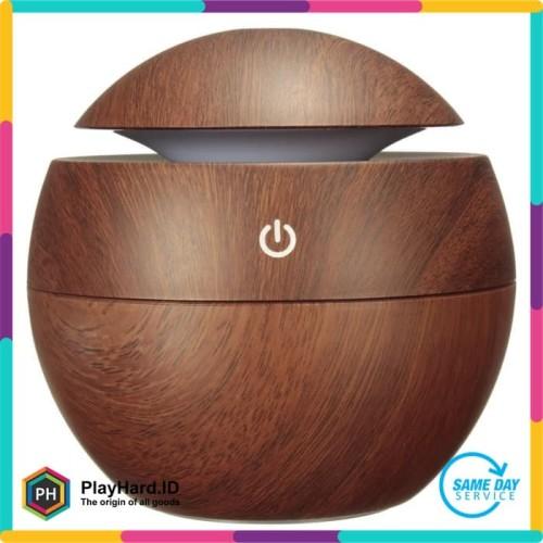 Foto Produk Aromatherapy Air Humidifier Desain Kayu - Kuning dari PlayHardID