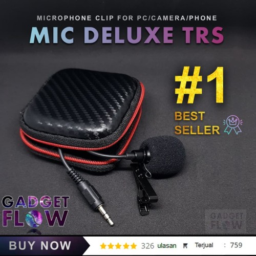Foto Produk Microphone / Mic Clip On DELUXE 3.5 mm For Android dari Gadget Flow