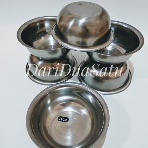 Foto Produk Kobokan Stainless 14 cm / Mangkok / Baskom / Nasi Tim dari DariDuaSatu