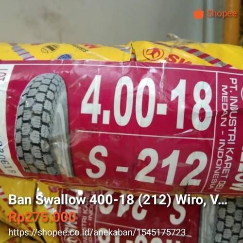 Foto Produk Ban Swallow 400-18 (212) Wiro, Velg ring 18, Tubetype dari AnekaBan PondokAren