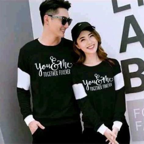 Foto Produk coupl couple sweater couple lp together - Hitam dari fkhoshop