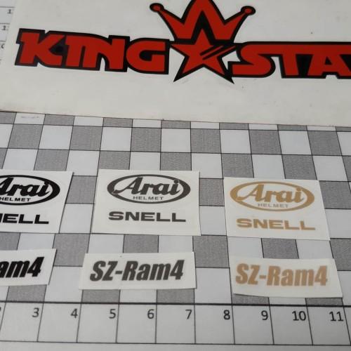 Foto Produk Sticker SNELL ARAI SZ-RAM4 SET dari King Star Online Shop