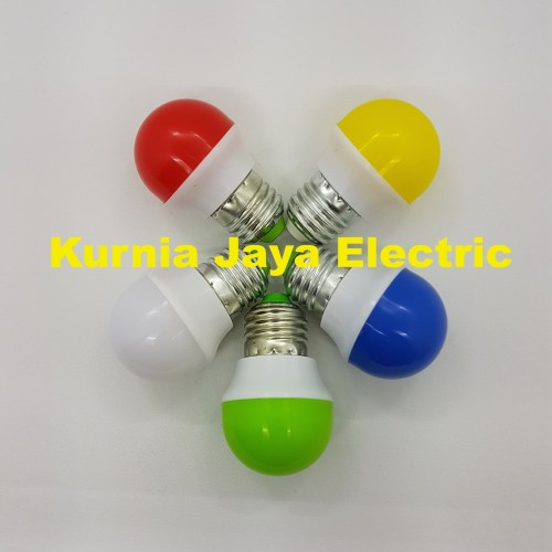 Foto Produk Lampu PingPong 1W WARNA Bulb Bohlam Tidur LED E27 220V - Putih dari Kurnia Jaya Electric