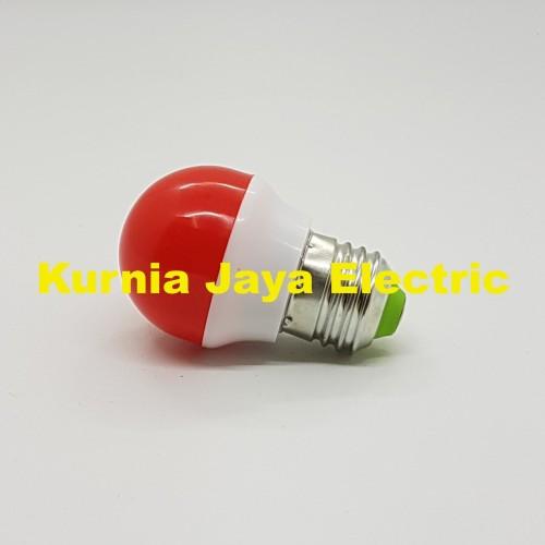 Foto Produk Lampu PingPong 1W Warna MERAH Bulb Bohlam Tidur LED E27 220V dari Kurnia Jaya Electric