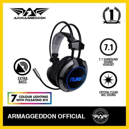 Foto Produk Headphone Headshet Gaming Armaggeddon Nuke 9 (7 colour lighting) dari Armaggeddon Official