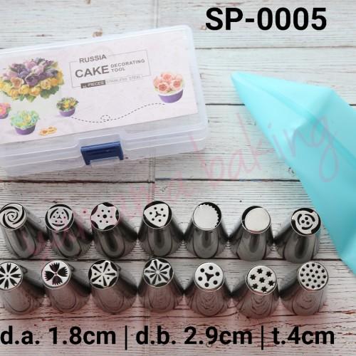 Foto Produk SP-0005 Spuit rusia set buttercream flower cake pipping bag silikon dari Yamama Baking