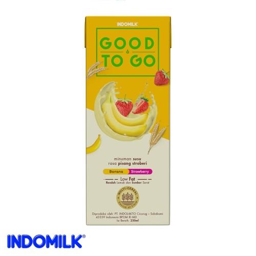 Foto Produk Indomilk UHT Good To Go Pisang Stroberi 250 ml X 4 Pcs dari Indomilk Official Store