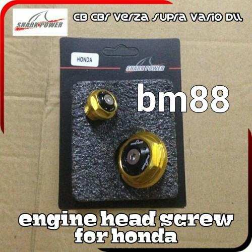Foto Produk Engine Head Screw For Honda - CB CBR VERZA SUPRA VARIO - Tutup Magnet dari BarokahMotor88