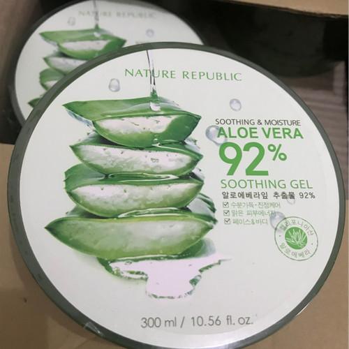 Foto Produk Nature Republic 92% Aloe Vera Soothing Gel ORIGINAL FROM KOREA dari Bursa Cosmetik Murah