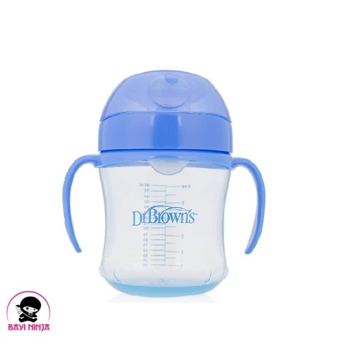 Foto Produk DR BROWNS Straw Soft Spout Transition Cup Botol Minum 180 ml -DB008 dari BAYININJA