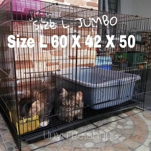 Foto Produk Kandang lipat besi Kucing Kelinci Burung Hamster Sugar glider size L dari Unyu Petshope II