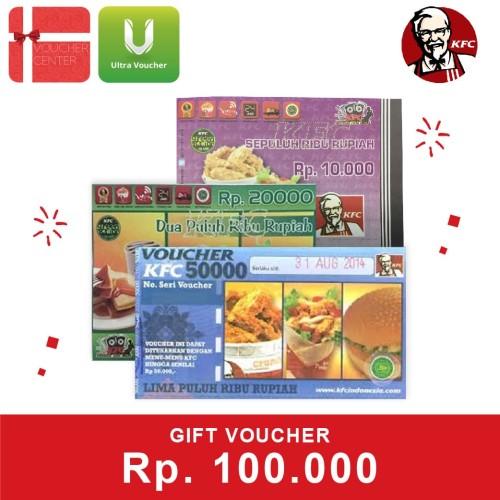 Foto Produk Voucher KFC Rp 100.000 dari Ultra Voucher